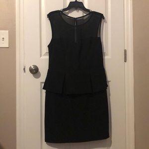 Peplum Black Dress